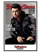 Gloss Black Framed Sam Smith Rolling Stone Magazine