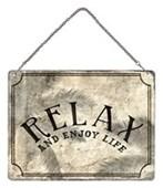 Relax Mini Tin Sign Enjoy Life