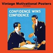 Confidence Wins Confidence Vintage Motivational Posters