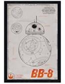 Black Wooden Framed Episode VII BB-8 Star Wars