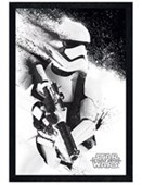Black Wooden Framed Episode VII Stormtrooper Paint Star Wars