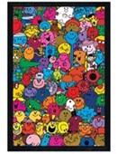 Black Wooden Framed A Colourful Collage Mr Men & Little Miss