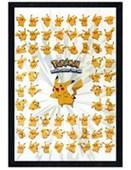Black Wooden Framed Pikachu Poster Pokemon
