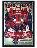 Black Wooden Framed The Battle Of Chumpions Deadpool