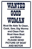 Wanted! Good Woman Comical Advert