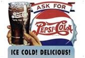 Ice Cold! Delicious! Pepsi Cola