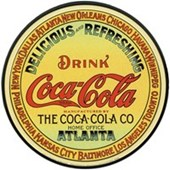 Vintage Keg Label Coca Cola