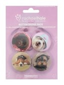 4 Dogs, Including Georgie and Cindy Rachael Hale Button Badge Pack