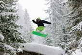 Snowboarder Jumping Air Time!