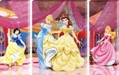 Snow White, Cinderella, Belle & Sleeping Beauty Triptych Disney Princess