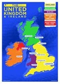 UK & Ireland Country Map Colourful Countries