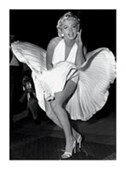 Marilyn Monroe In Seven Year Itch Famous Billowing Skirt Scene