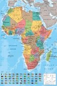 Map Of Africa Coulourful Continent