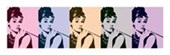Cigarello Pop Art Audrey Hepburn