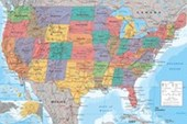 Map Of The USA Political Map