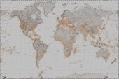 The World in Silver Political Map