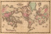Mercator's Projection Old World Map