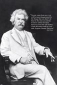 American Author & Humorist Mark Twain
