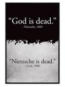Gloss Black Framed God Is Dead Nietzsche Is Dead