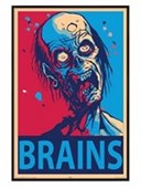 Gloss Black Framed Brains Zombies