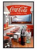 Gloss Black Framed Retro Diner Vintage Coca Cola