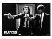 Gloss Black Framed Vincent Vega And Jules Winnfield Pulp Fiction