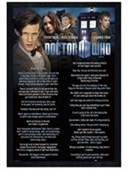 Black Wooden Framed Everything I Know Doctor Who