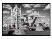 Gloss Black Framed Traffic on Tower Bridge Images of London