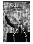Gloss Black Framed Let Freedom Reign Nelson Mandela