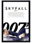 Black Wooden Framed The 23rd James Bond Film Skyfall