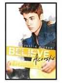 Gloss Black Framed Acoustic Album Art Justin Bieber