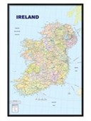 Gloss Black Framed Map Of Ireland The Republic Of Ireland, And Northern Ireland