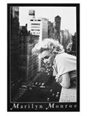 Gloss Black Framed New York Balcony View Marilyn Monroe