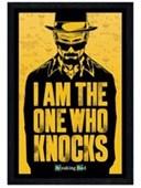 Black Wooden Framed I Am The One Who Knocks