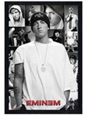 Black Wooden Framed Slim Shady Collage Eminem