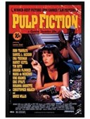 Black Wooden Framed Quentin Tarantino Classic Pulp Fiction