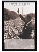 Black Wooden Framed Martin Luther King I Have a Dream Speech