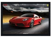 Black Wooden Framed Ferrari 430 Scuderia Italian Sports Car