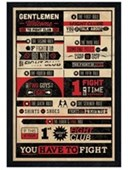Black Wooden Framed The First Rule Of Fight Club Fight Club