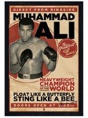 Black Wooden Framed Heavyweight Champion of the World Muhammad Ali
