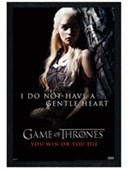 Black Wooden Framed I Do Not Have A Gentle Heart Game Of Thrones