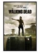 Gloss Black Framed Fight The Dead, Fear The Living The Walking Dead
