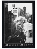 Black Wooden Framed Silverscreen Goddess On Balcony Marilyn Monroe