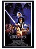 Black Wooden Framed Return of the Jedi Original Movie Score Star Wars Episode VI