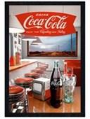 Black Wooden Framed Retro Diner Vintage Coca Cola