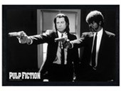Black Wooden Framed Vincent Vega and Jules Winnfield Pulp Fiction