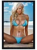 Black Wooden Framed Berenger Beach Beauty
