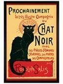 Black Wooden Framed Tournee du Chat Noir (Turn of the Black Cat) Theophile Alexandre Steinlen