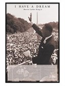Gloss Black Framed I Have A Dream Martin Luther King