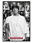 Gloss Black Framed Slim Shady Collage Eminem